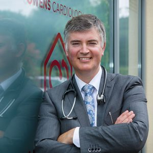 Dr Patrick Owens outside the Heart Clinic